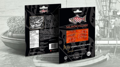 Salmon Village Smoked Salmon Packaging Design